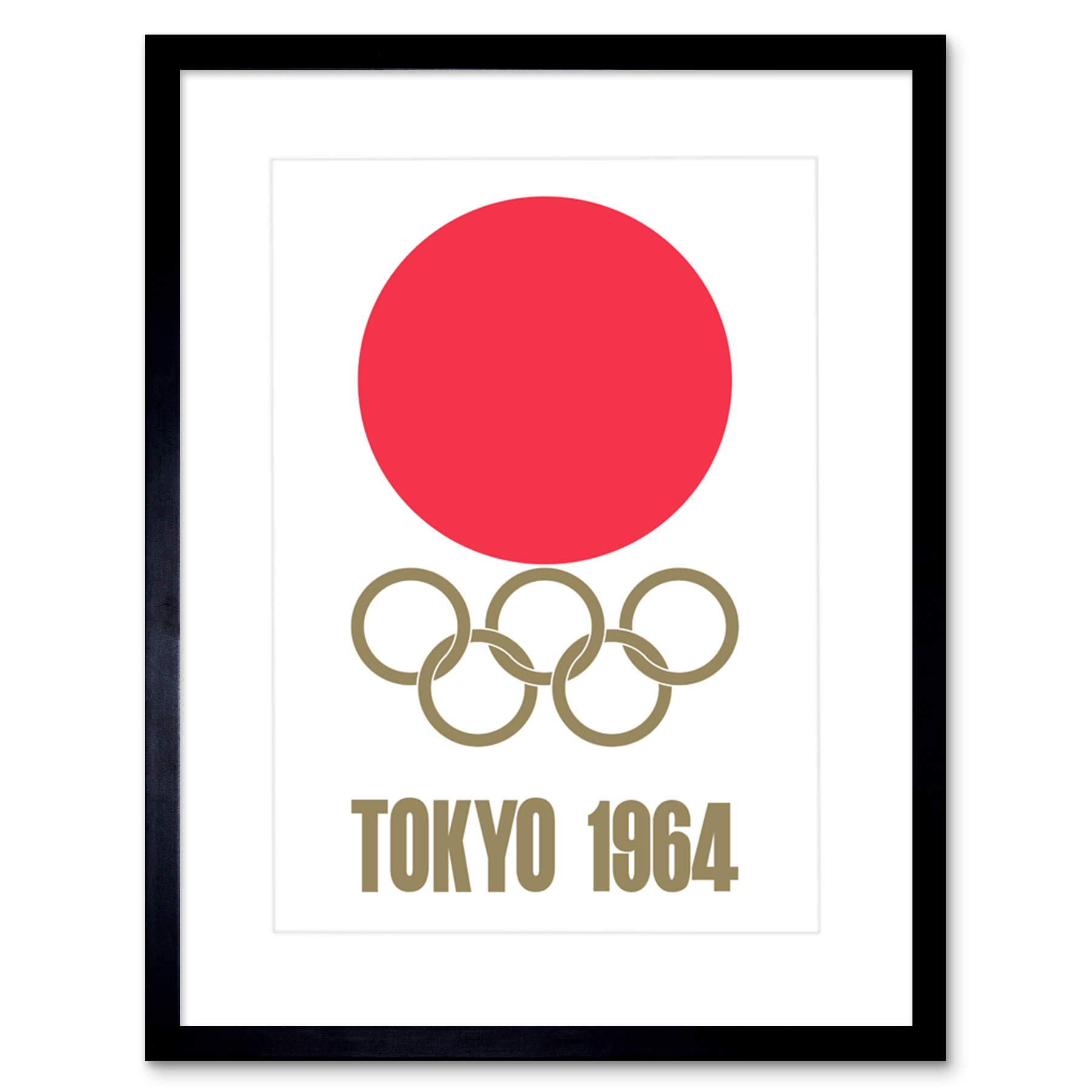 Tokyo Summer Olympics 1964 Athletes See you Japan Wall Art Print Framed 12x16