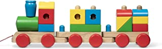 Melissa & Doug 40544 Jumbo Stacking Train Classic | Building & Vehicles | Wooden Toy | 2+ | Gift for Boy or Girl