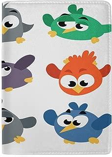Angry Birds Leather Travel Passport Cover Holder Case for Men Women