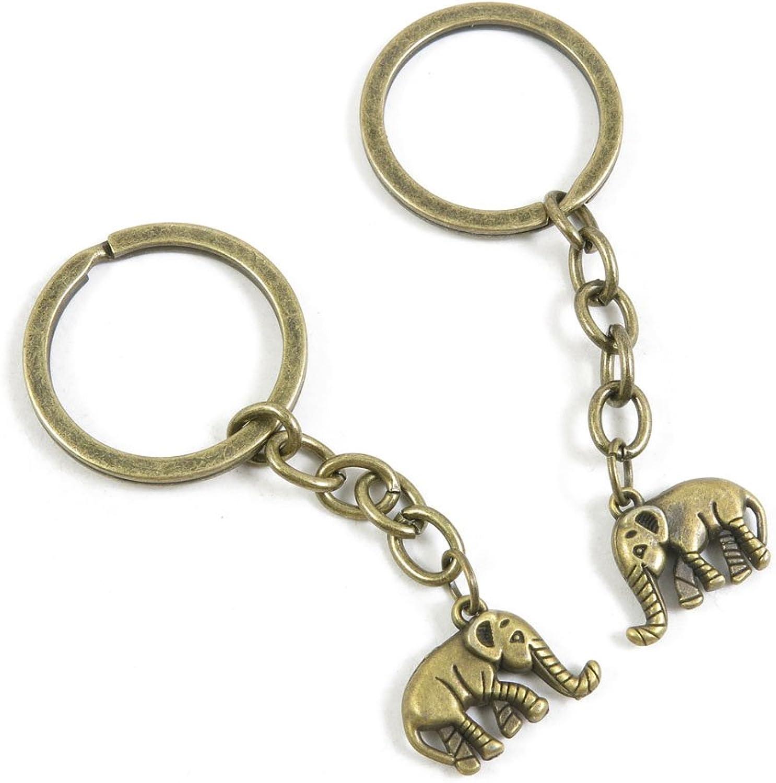 190 Pieces Fashion Jewelry Keyring Keychain Door Car Key Tag Ring Chain Supplier Supply Wholesale Bulk Lots E5NJ4 Elephant