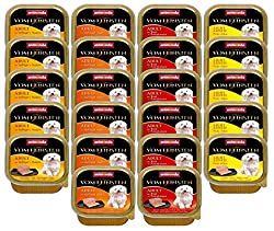 animonda Vom Feinsten Adult dog food, wet food for adult dogs, gourmet kernels with beef, egg + ham, 22 x 150 g