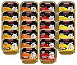 Animonda Vom Feinsten Adult Hundefutter, Nassfutter für ausgewachsene Hunde, Schlemmerkern mit Rind, Ei + Schinken, 22 x 150 g