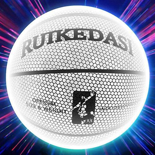 Ballon de Baloncesto Balón De Baloncesto Holográfico Reflectante Tamaño 7 PU Bascket Mujer Hombre Deportes Luminoso Interior Al Aire Libre Entrenamiento Profesional