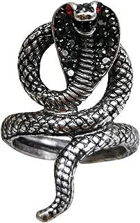 Mens Snake Ring Wrap Copper Cool Viper Snake Ring