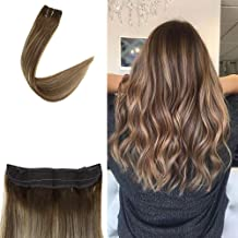 Full Shine Invisible Crown Human Hair Extensions 16