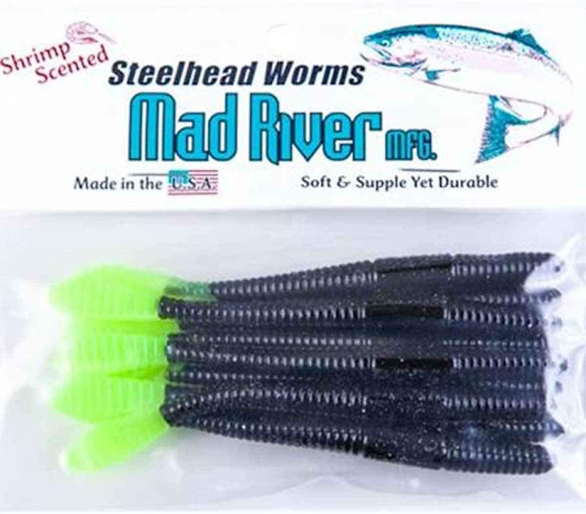 Sports & Outdoors Fly Line Mad River 4 Inch Steelhead Worms ...