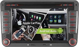 7' 2 Tuner Android 10.0 DVD GPS 2+32GB Android Auto+Carplay BT 5.0 DSP Autoradio Navigation für VW Passat B6 Golf V VI 5 6 Touran Tiguan Multivan T5 Transporter Polo Caddy Skoda Seat WiFi 4G OBD2