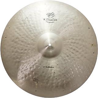 "Zildjian 22"" K Zildjian Constantinople Renaissance Ride Medium Thin Drumset Cast Bronze Cymbal with Dark/Mid Sound and Att..."
