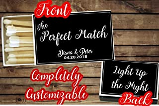 Set of 16 Personalized Matches, Matchbox Wedding Favors, Cigar Matches, Engagement Party Matches