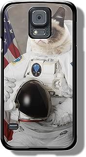 grumpy cat like astronaut for Samsung Galaxy S5 Black case