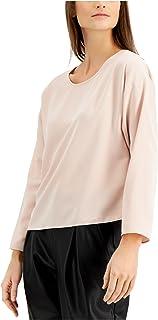 ALFANI Womens Pink Long Sleeve Scoop Neck Top AU Size:18