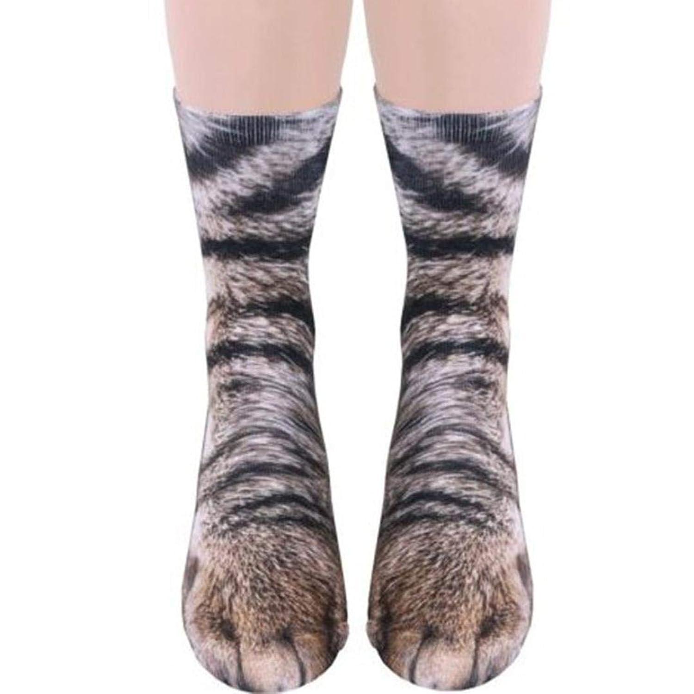 動物の足 ソックス 動物の足 靴下 猫のソックス 3D立体猫靴下