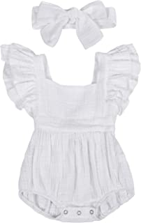 Giles Abbot Newborn Infant Toddler Baby Girl Romper Lace Long Sleeve Jumpsuit Outfit