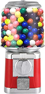 IRONWALLS Red Candy Gumball Vending Machine Canister Capsule Vending Dispenser Removable Detachable Commercial With Key Lock