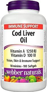 Webber Naturals COD Liver Oil Vitamin A & D Softgels 180's