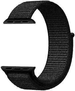 Woven Nylon Apple Watch Sport Loop band 42MM-Dark Black