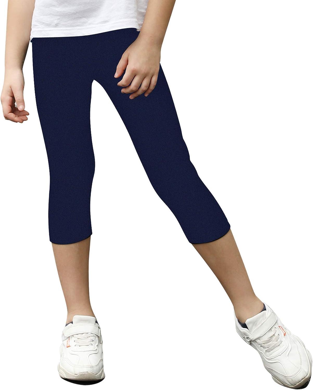 STELLE Girls Active Capri Legging Yoga Pants for Workout Sport Running: Clothing