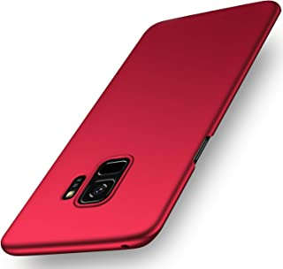 SHIWELY Ultra Thin Samsung Galaxy S9 Case, Hard Polycarbonate PC Slim Fit Silky Smooth Phone Cover Case with Matte Finish for Samsung Galaxy S9 (Red)