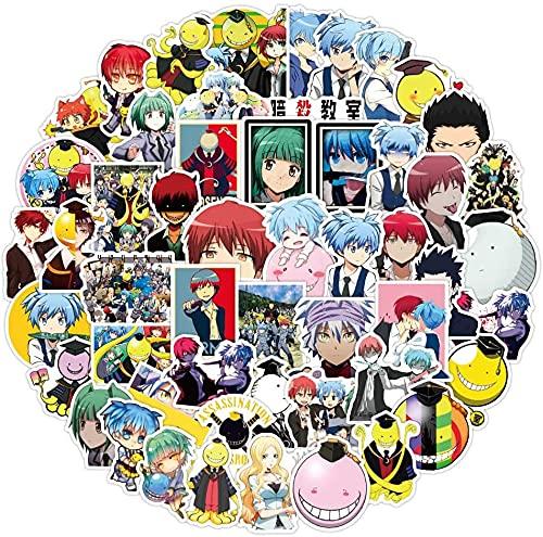 50St. Ansatsu Kyoushitsu Assassination Classroom Aufkleber, japanische Cartoon Anime Vinyl Aufkleber Stickers für Laptop, Wasserflasche, Auto, Skateboard, Gitarre, Helm