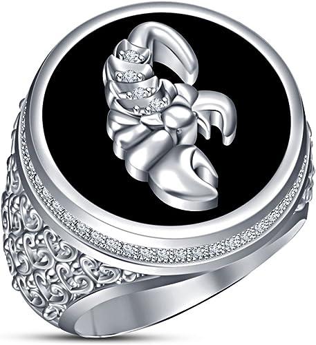 Vorra Fashion HGoldskop Sign Scorpio Ring platiniert 925 erling Silber massiv Weiß