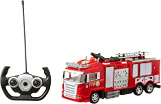 SYR Car 666-192NA Fire Rescue Truck with Remote Control for Kids - Multi Color