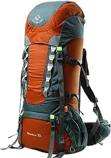 Camping Hiking Bag Large Capacity Outdoor Backpack Men and Women Waterproof Travel Backpack 70L XLSM (Color : Orange)