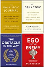 Ryan Holiday 4 Books Collection Set (The Daily Stoic Journal [Hardcover], The Daily Stoic, The Obstacle Is The Way, Ego Is The Enemy)