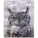 """Lavish Home Heavy Fleece Owl Pattern-Plush Thick 8 Pound Faux Mink Soft Blanket for Couch Sofa Bed (74"""" x 91""""), Multicolor"""
