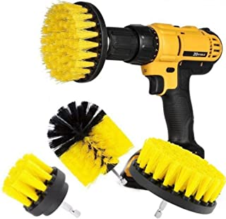 Drill Brush Attachment Set - Power Scrubber Brush Cleaning Kit - All Purpose Drill Brush for Bathroom Surfaces, Grout, Floor, Tub, Shower, Tile, Corners, Kitchen, Automotive, Grill - Fits Most Drills