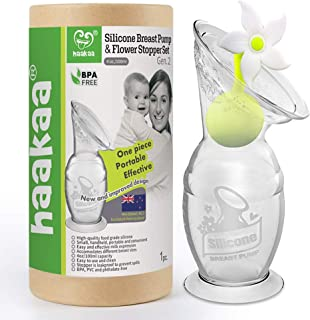 Haakaa Silicone Breastpump with Stopper 4oz/100ml