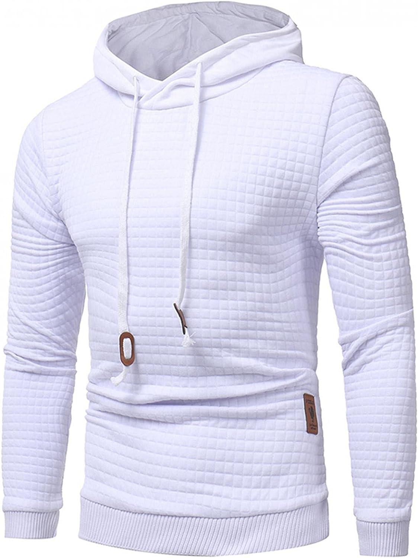 Aayomet Hoodies for Men Fashion Plaid Pullover Hoodies Winter Long Sleeve Breathable Sweatshirts for Men