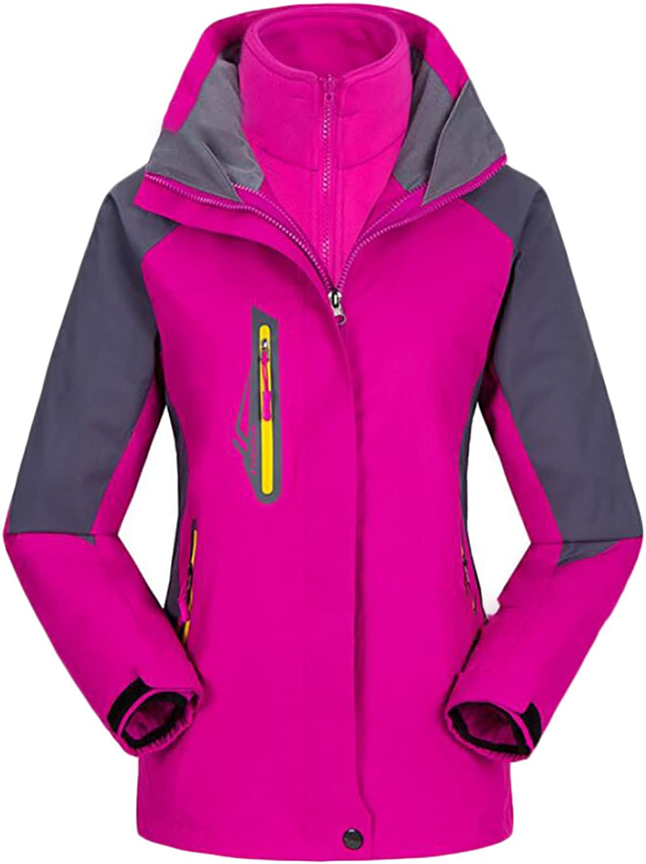 Esast Womens Autumn Waterproof Jacket Raincoat Sportswear Outdoor Hooded Softshell Camping Hiking Mountaineer