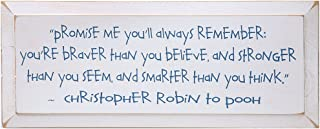 SIGNALS Christopher Robin Promise Me You'll Always Remember - Winnie The Pooh Plaque