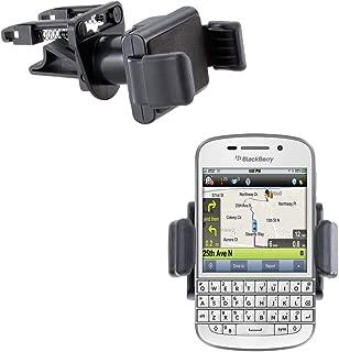 Vent Compact Mini Vehicle Mount Cradle Designed for Blackberry Q10 - Unique Auto Car Holder Clips into Air Vents