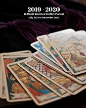 2019 - 2020 | 18 Month Weekly & Monthly Planner July 2019 to December 2020: Tarot Cards Readings  Vol 25 Monthly Calendar with U.S./UK/ ... Holidays– Calendar in Review/Notes 8 x 10 in.