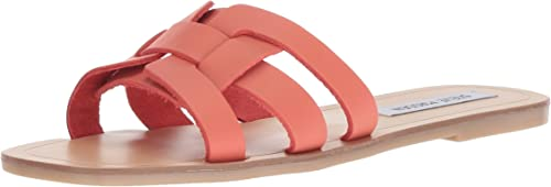Steve Madden Madden Wohommes Sicily Sandal, Coral Leather, 6 M US  exclusif