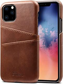 Protect Your Phone, Calf Texture Back Cover Protective Case with Card Slots for iPhone XI Max (2019) for Cellphone. (Color : Brown)