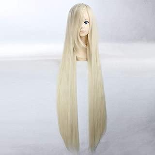 HOOLAZA Blonde Extra Long Straight Wig Vampire Knight Hiou Shizuka Chobits Chi Natalia Natasha Alfroskaya Minako Aino Sailor Venus for the Halloween Party Cosplay Wigs