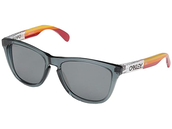 Oakley Frogskins (Crystal Black w/ Prizm Black) Sport Sunglasses