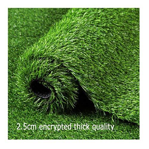 Gazon artificiel PING- Pelouse en, Herbe De Printemps Épaisse Cryptée De 25 Mm Tapis Vert Écologique Et Inoffensif en PE for La Disposition De La Scène du Mur Au Sol 3 Tailles (Color : 2×4m)
