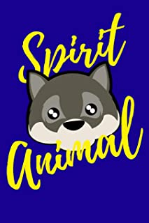 Wolf Spirit Animal: 100 Paged Lined Journal 6 X 9