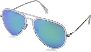 Ray-Ban Men's Aviator Sunglasses, Matte Trasparent (Matte Trasparent), 56