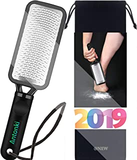 Foot File, 2 Pack Professional Pedicure Rasp Callus Remover Foot Files For Easy Trimming Dead Skin, Callus, Foot Corn, Cracked Heels, Light-weight, Surgical Stainless Steel