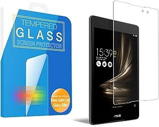 [MS factory] ASUS ZenPad 3 8.0 インチ ブルーライト 90% カット ガラスフィルム Z581KL 液晶保護 国産 強化ガラス ラウンドエッジ加工 90日 保証 FD-ZP3-8-BLUE-AB
