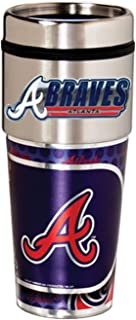 Great American Products Atlanta Braves 16oz. Stainless Steel Travel Tumbler/Mug