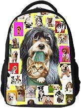 Children's Backpack,Kids Backpack 3D Printed Cute Unisex Toddler Kids School Bag,Animal Design,A