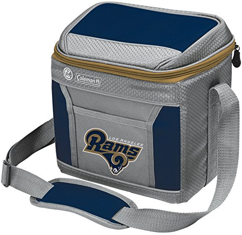 Coleman NFL Soft-Sided Insulated Cooler and Lunch Box Bag, 9-Can Capacity, Los Angeles Rams