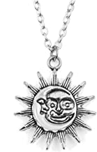 Biubiuo Small Sun Pendant Necklace for Women Gold Color Necklace Chain Choker Necklace Jewelry Gift