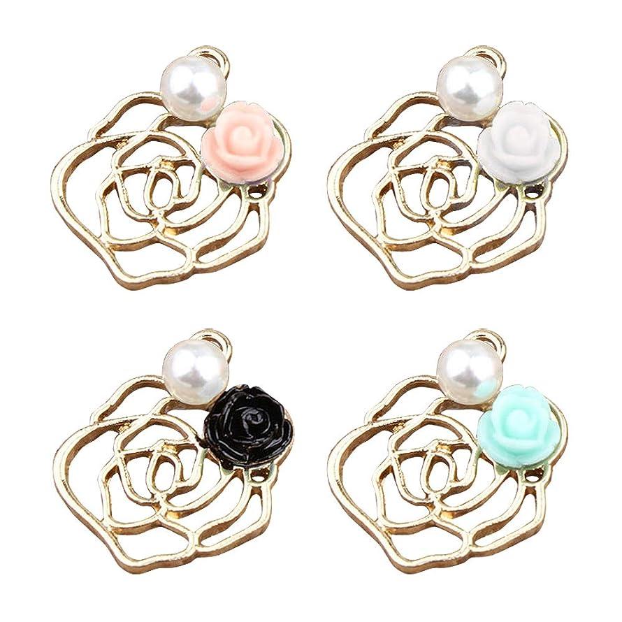 M230-E 8pcs New Cute Assorted Rose Flowers Bracelet Charms Pendants Wholesale