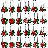 FHzytg 48 Stück Weihnachtsbaumschmuck Christbaumschmuck Filz, Weihnachtsanhänger aus Filz Christbaumschmuck Weihnachten Filz Weihnachtsbaum Deko Filz Schneeflocken für Weihnachten